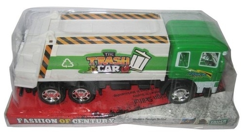 Auto Trash car śmieciarka zielony