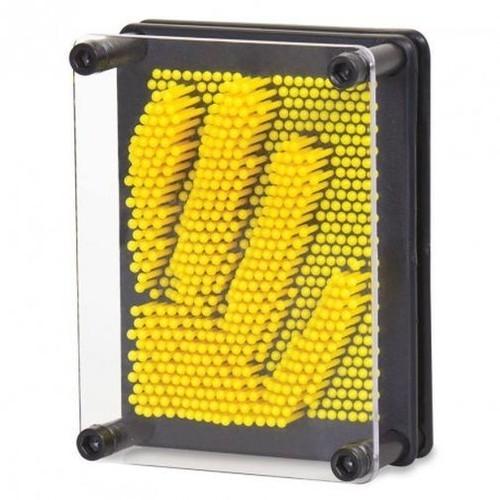 Mały Plastikowy Pin Art żółty