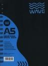 Kołozeszyt A5 Wave w kratkę 120 kartek niebieski