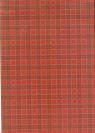 Brulion A4 w kratkę 288 kartek czerwony