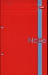 Notatnik z perforacją A5+ w kratkę 80 kartek 5 sztuk