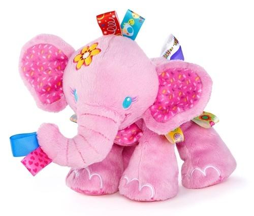 Pluszowe zwierzaki Taggies Różowy słoń