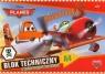 Blok techniczny A4 z kolorowymi kartkami Planes
