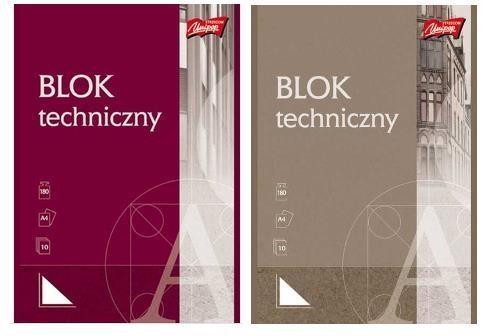 Blok techniczny z białymi kartkami A4, 10 kartek UNIPAP