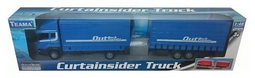 Teama Ciężarówka z naczepą Scania niebieska