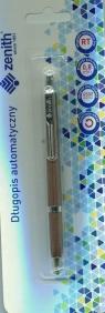 Długopis automatyczny Zenith 10 blister brązowy