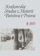 Krakowskie Studia z Historii... T.8 zeszyt 3 praca zbiorowa