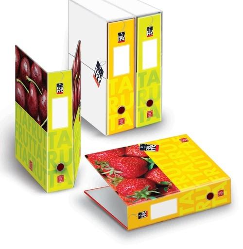 Segregator z pudełkiem A4 Pigna Fruits 2 zaczepy z dźwignią mix wzorów