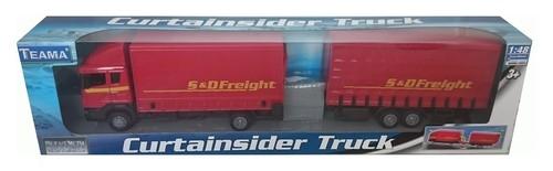 Teama Ciężarówka z naczepą Scania czerwona