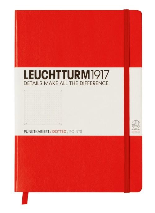 Notes Medium Leuchtturm1917 w kropki czerwony