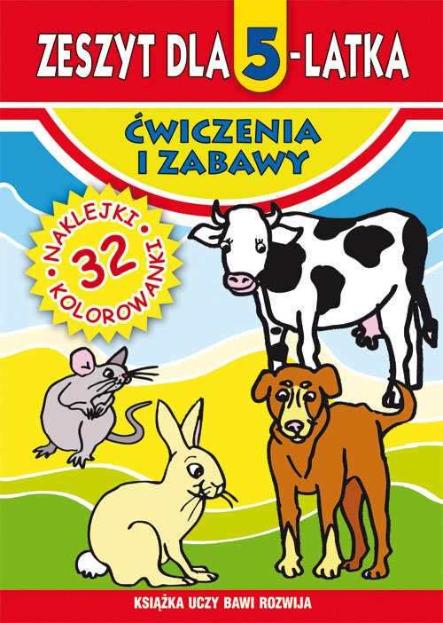 Zeszyt dla 5-latka Ćwiczenia i zabawy Korczyńska Małgorzata, Rzepecka Martyna