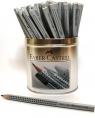 Ołówek Jumbo Grip srebrny .