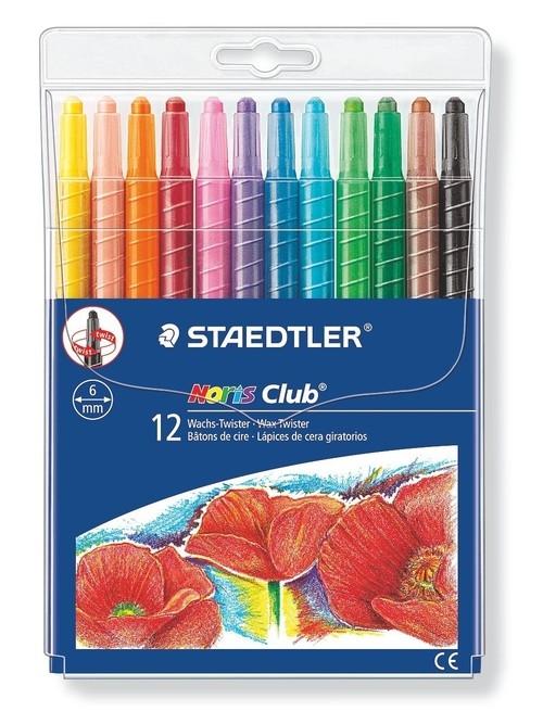 Twistery wykręcane kredki woskowe 12 kolorów (S 221 NWP12)