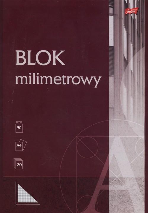 Blok milimetrowy A4 20 kartek