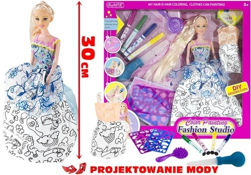 Lalka Fashion z długimi włosami Projektowanie mody