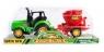 Traktor z akcesoriami i przyczepą