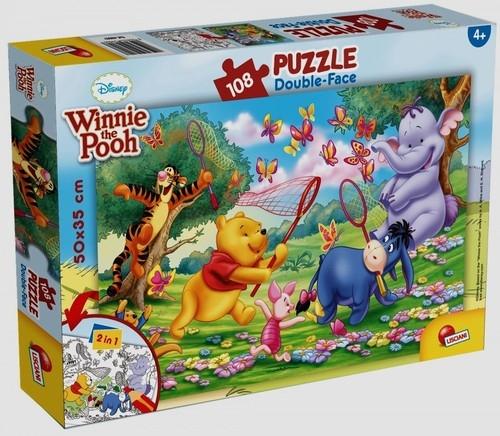 Puzzle dwustronne 108 Kubuś Puchatek i Przyjaciele (48007)