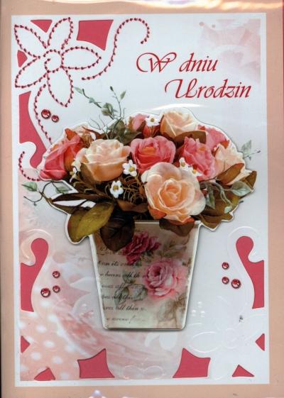 Karnet B6 Urodziny dla kobiety lub pana MIX GM