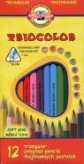 Kredki ołówkowe trójboczne 7mm 12 kolorów