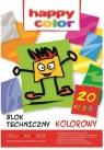 Blok techniczny A4/20 - kolorowy170g/m2
