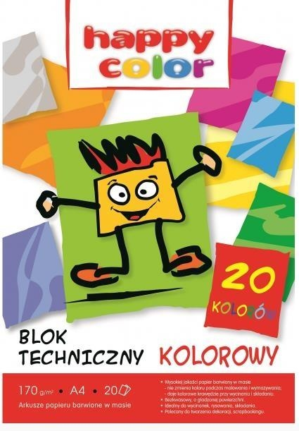 Blok techniczny A4/20 - kolorowy
