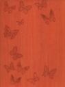 Notatnik B5 Ivory Motyle pomarańczowy