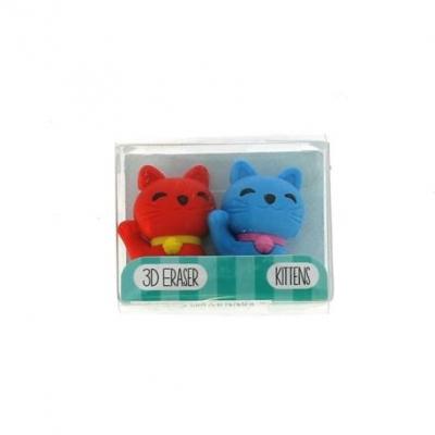 Gumki do mazania - mały zestaw kotki