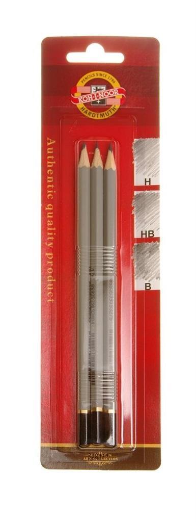 Ołówek grafitowy 1860/3 (3szt) H, HB, B