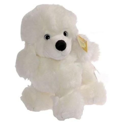 Pies pluszowy biały 25 cm (J62688)
