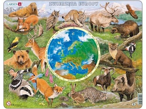 Puzzle Zwierzęta Europy 90