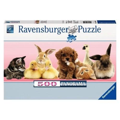 Puzzle Panorama Zwierzęcy przyjaciele 500 elementów (148011)
