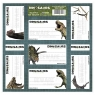 Nalepki na zeszyty Dinozaur