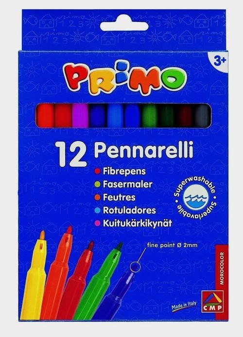 Flamastry Primo 12 kolorów