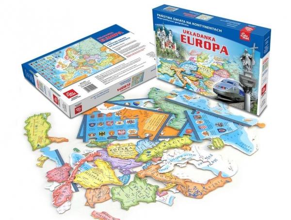 PUZZLE 58 UKŁADANKA EUROPA 6+ TW (9012)