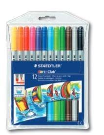 Flamastry dwustronne S320 - 12 kolorów STAEDTLER (S 320 NWP12)
