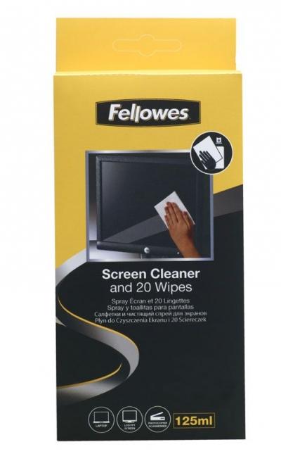Płyn i ściereczka do czyszczenia ekranów Fellowes (99701)