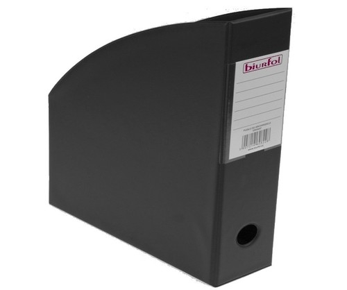 Pojemnik na czasopisma 10 cm czarny