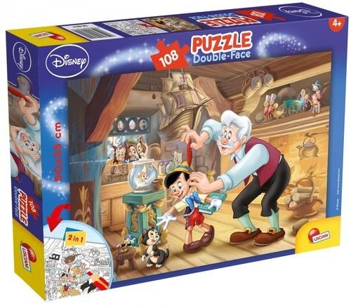 Puzzle dwustronne plus Pinokio 108 (48014)