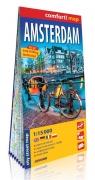 Amsterdam laminowany plan miasta 1:15 000