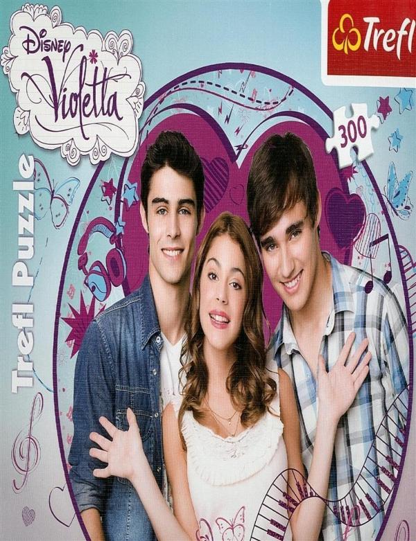 Puzzle Okrągłe Violetta i przyjaciele 300 (Uszkodzone opakowanie) (39101)