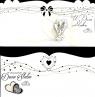 Karnet Ślub List złocony DL MIX