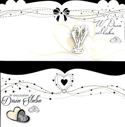 Karnet Ślub List złocony DL MIX DL