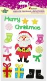 Naklejki piankowe 3D: Boże Narodzenie )(napis, mikołaj, skarpety, prezenty), mix rozmiarów (103-0346)