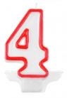 Świeczka cyferka nr 4