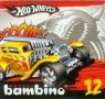 Kredki bambino Hot Wheels 12 kolorów