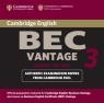Cambridge BEC Vantage 3 Audio CD Set