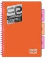 Brulion A5 CoolPack w kratkę 200 kartek pomarańczowy neon (52016PTR)