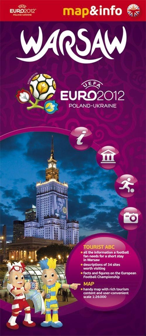 Warsaw Warszawa Euro 2012 mapa i miniprzewodnik Augustyniak Urszula, Rogalska Marta