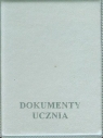 Okładka na dokumenty ucznia pionowa srebrna