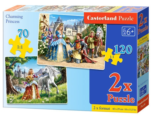 Puzzle Księżniczki 70 i 120 2w1 (021017)